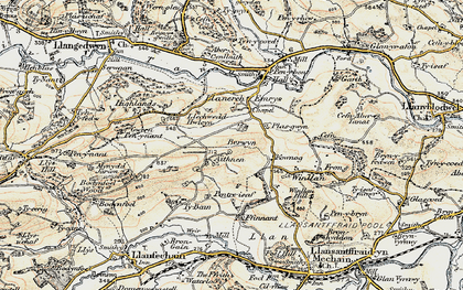Old map of Aithnen in 1902-1903