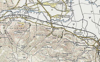 Old map of Akeld Hill in 1901-1903