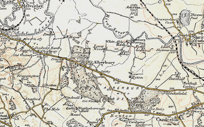 Old map of White Abbey in 1902