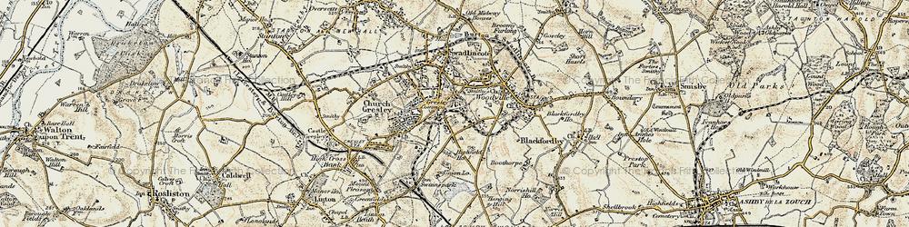 Old map of Albert Village in 1902