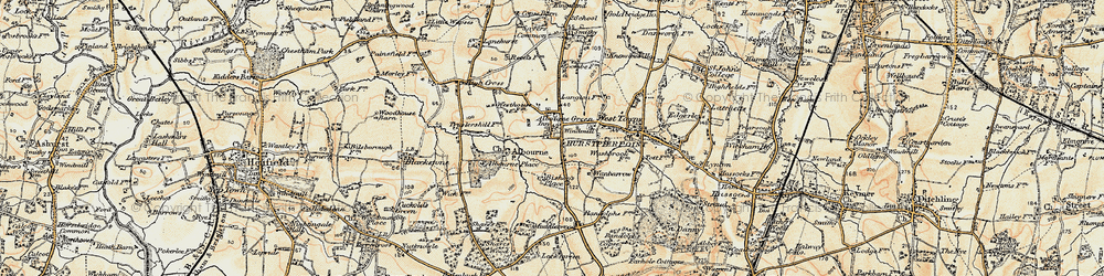 Old map of Albourne Place in 1898