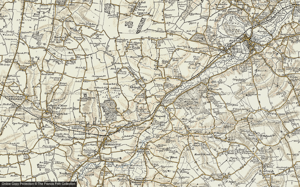 Old Map of Alburgh, 1901-1902 in 1901-1902