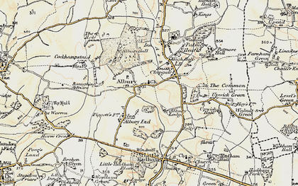 Old map of Albury Lodge in 1898-1899