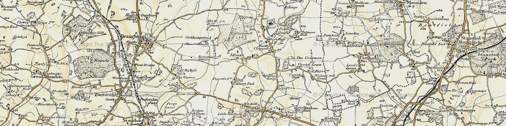Old map of Albury in 1898-1899