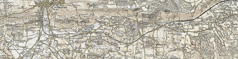 Old map of Tilling Bourne in 1898-1909