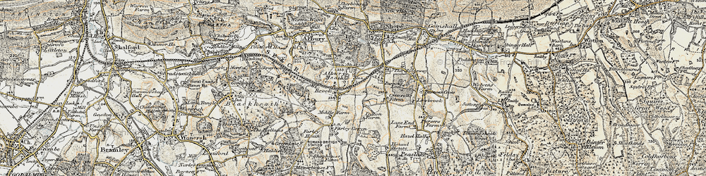 Old map of Albury Heath in 1898-1909