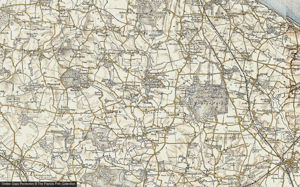 Old Map of Alby Hill, 1901-1902 in 1901-1902