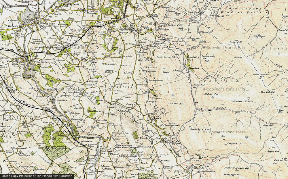 Old Map of Albyfield, 1901-1904 in 1901-1904
