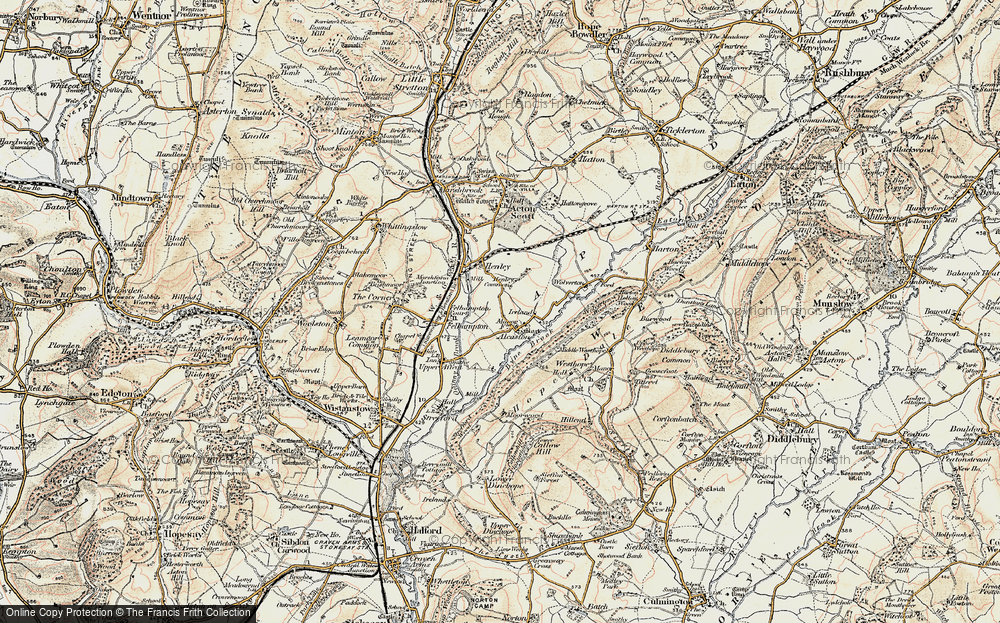 Old Map of Alcaston, 1902-1903 in 1902-1903