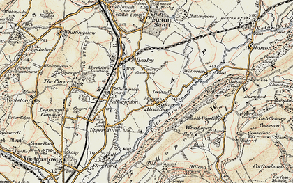 Old map of Alcaston in 1902-1903