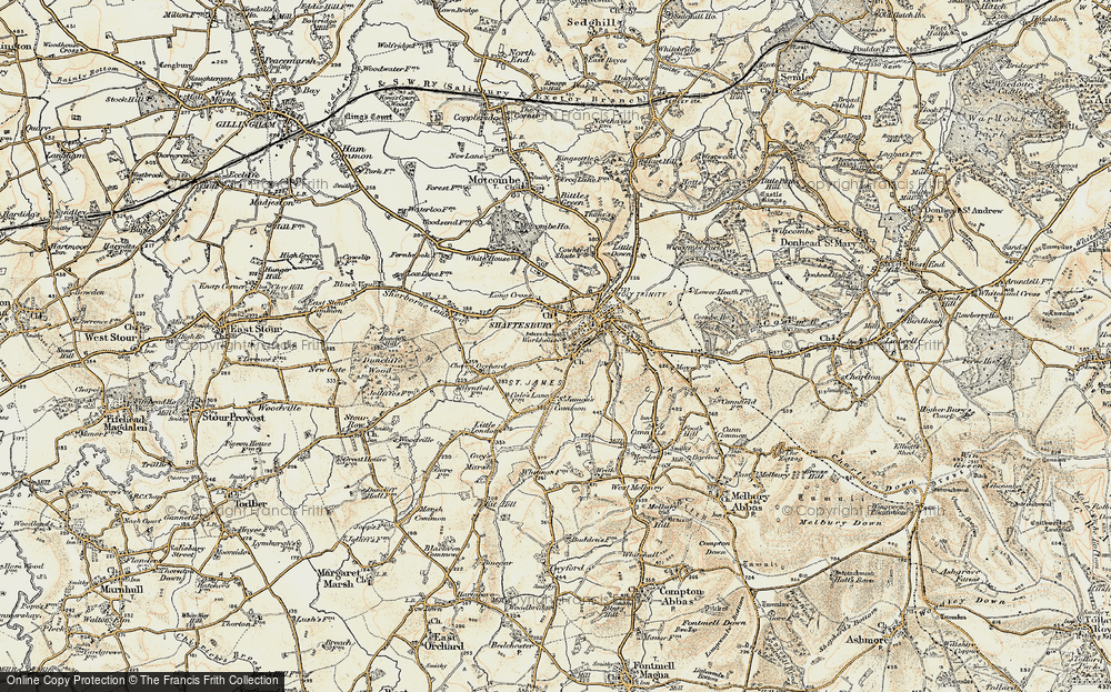 Old Map of Alcester, 1897-1909 in 1897-1909