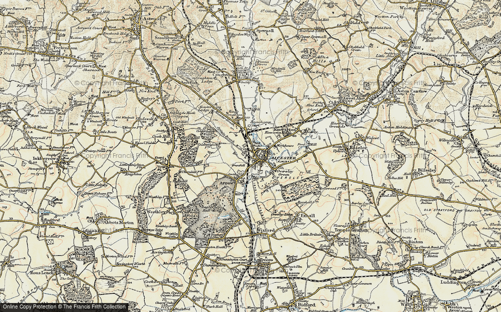 Old Map of Alcester, 1899-1902 in 1899-1902