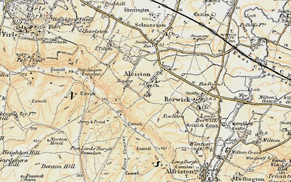 Old map of Alciston in 1898