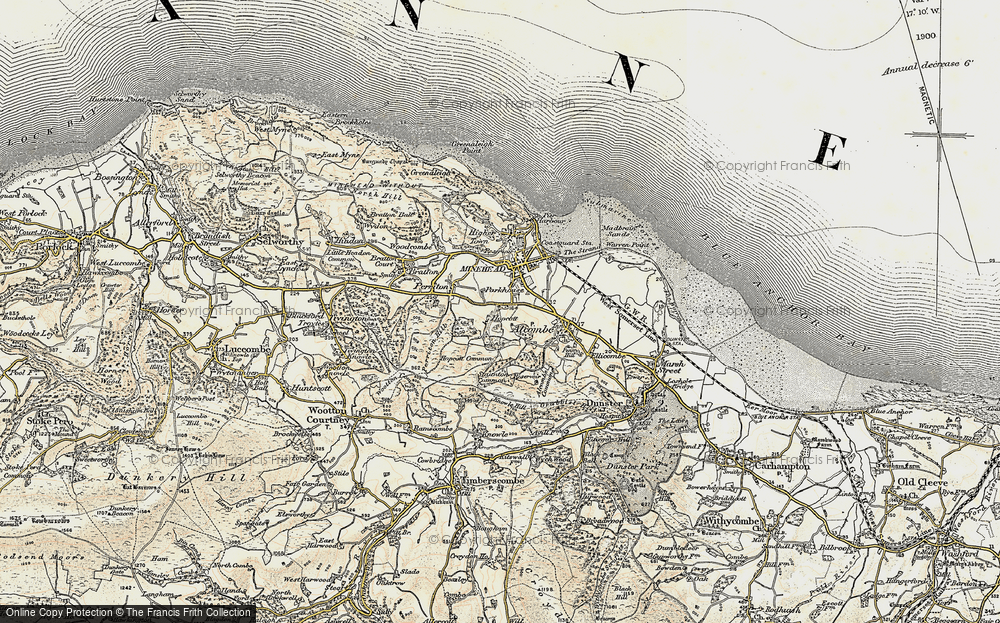 Old Map of Alcombe, 1898-1900 in 1898-1900