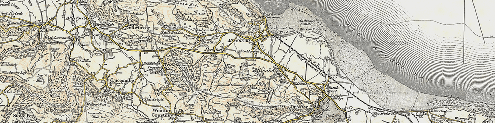 Old map of Alcombe in 1898-1900