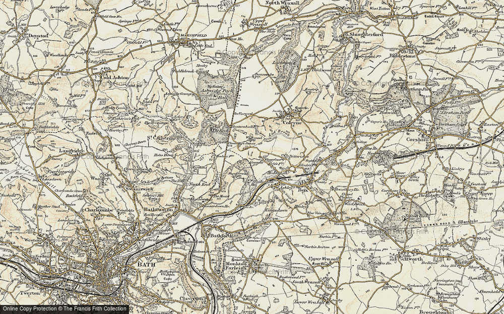 Old Map of Alcombe, 1899 in 1899