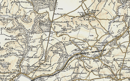 Old map of Alcombe in 1899