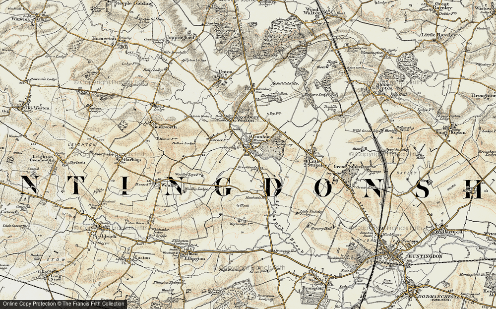 Old Map of Alconbury, 1901 in 1901