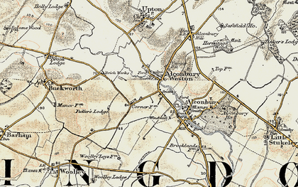 Old map of Alconbury Weston in 1901