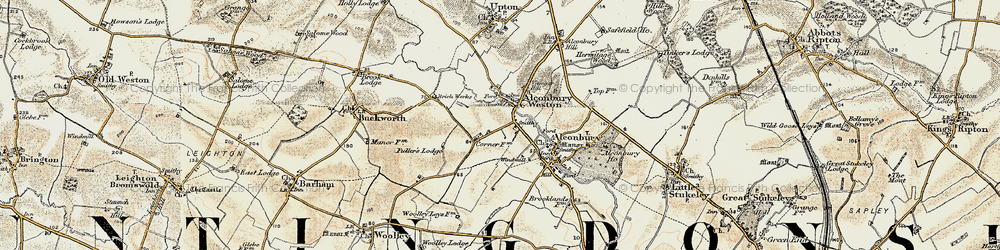 Old map of Alconbury Hill in 1901