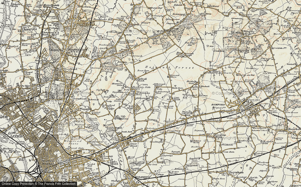 Old Map of Aldborough Hatch, 1897-1898 in 1897-1898