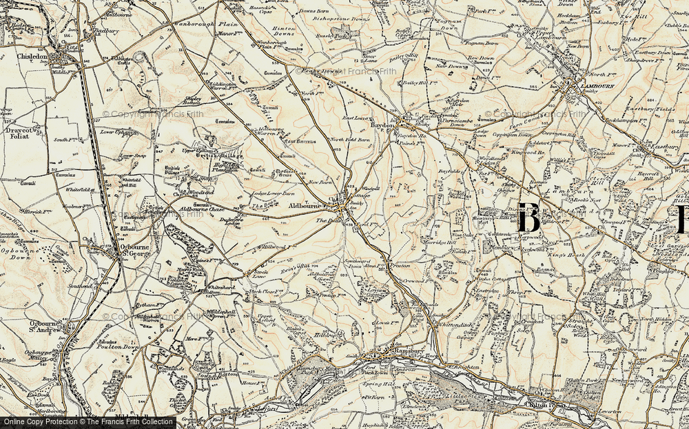 Old Map of Aldbourne, 1897-1899 in 1897-1899