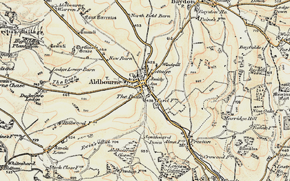 Old map of Aldbourne in 1897-1899