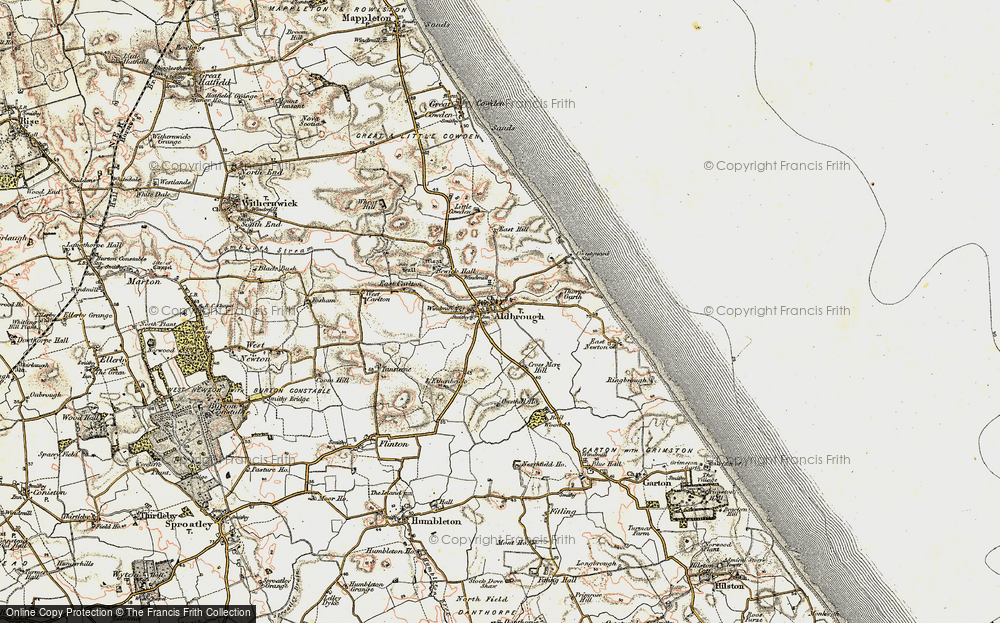 Old Map of Aldbrough, 1903-1908 in 1903-1908