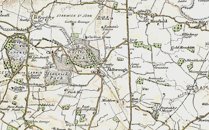Old map of Aldbrough Beck in 1903-1904