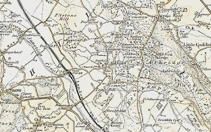 Old map of Aldbury Common in 1898