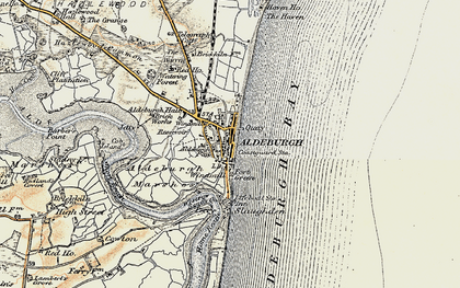 Old map of Aldeburgh Bay in 1898-1901