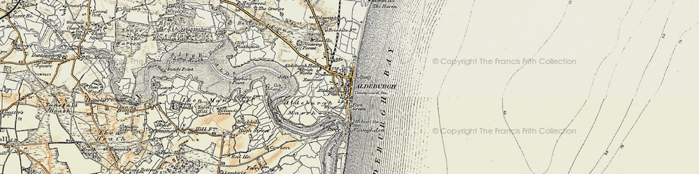Old map of Westrow Reach in 1898-1901