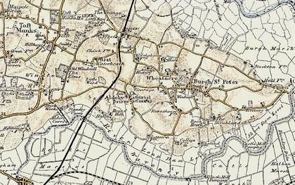 Old map of Aldeby Ho in 1901-1902