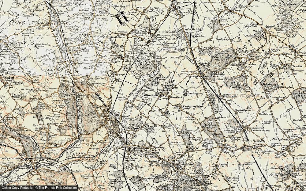 Old Map of Aldenham, 1897-1898 in 1897-1898