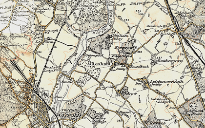 Old map of Aldenham in 1897-1898
