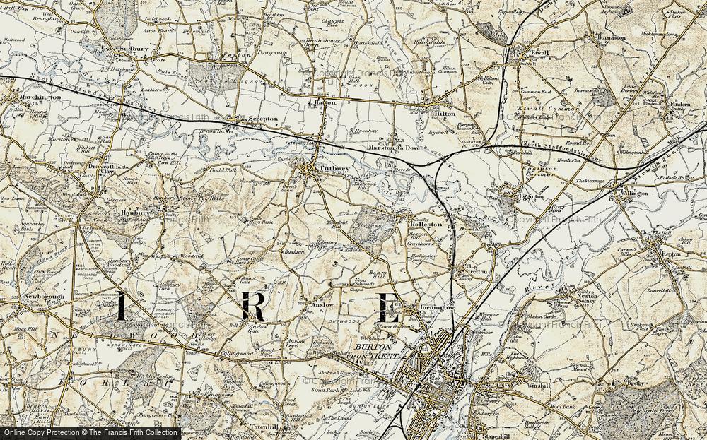 Old Map of Alder Moor, 1902 in 1902
