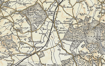 Old map of Alder Row in 1897-1899