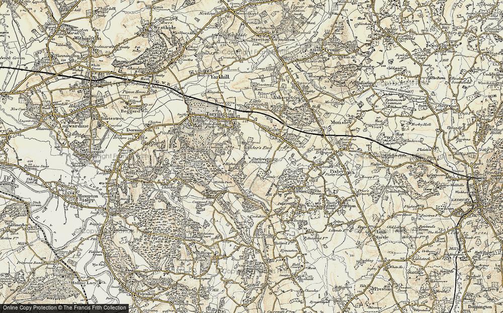 Old Map of Alder's End, 1899-1901 in 1899-1901