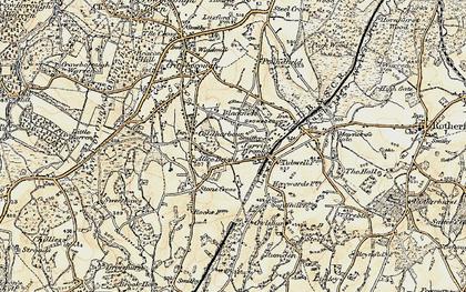 Old map of Alderbrook in 1898