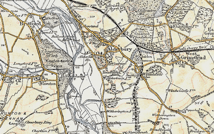 Old map of Alderbury Ho in 1897-1898