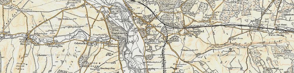 Old map of Alderbury in 1897-1898