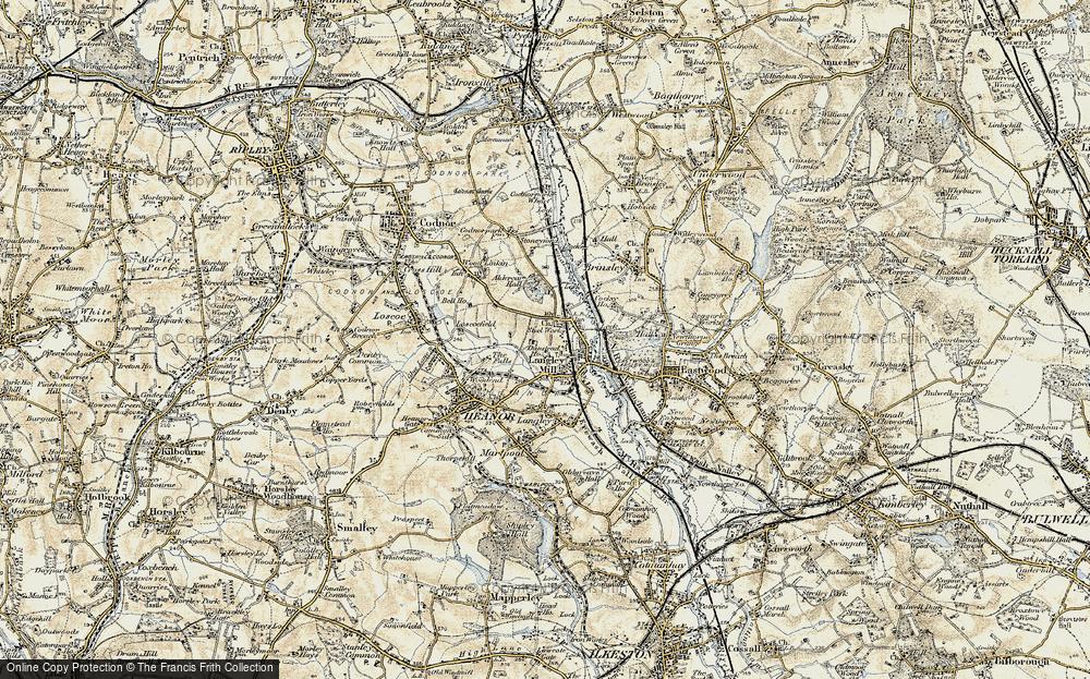 Old Map of Aldercar, 1902 in 1902