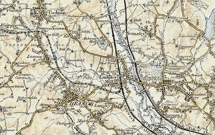 Old map of Aldercar in 1902