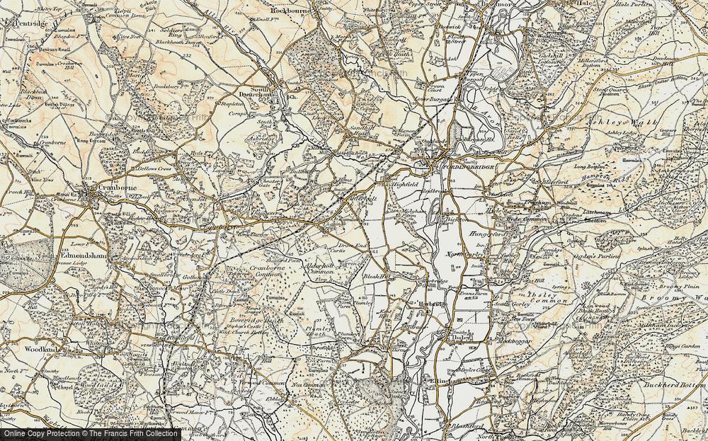 Old Map of Alderholt, 1897-1909 in 1897-1909