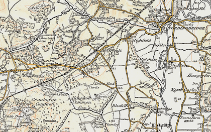 Old map of Alderholt in 1897-1909
