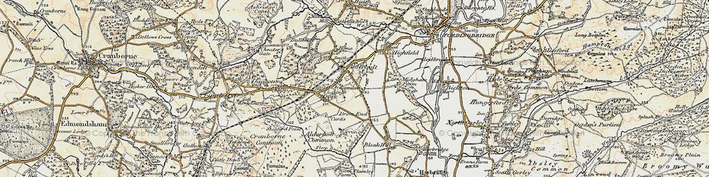 Old map of Alderholt in 1897-1909