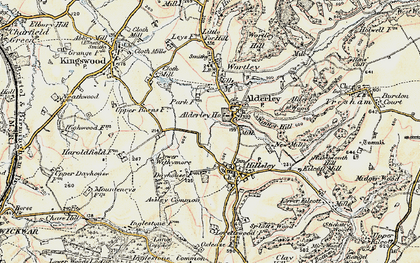 Old map of Alderley Wood in 1898-1899