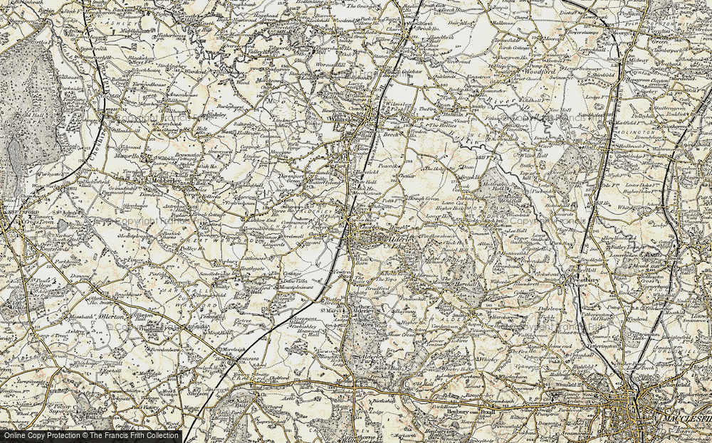 Old Map of Alderley Edge, 1902-1903 in 1902-1903