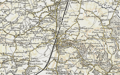 Old map of Alderley Edge in 1902-1903
