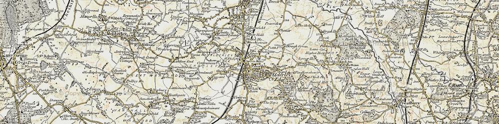 Old map of Alderley Edge in 1902-1903